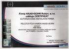 certifikát instalace peletových kamen