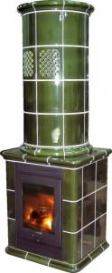Želetavská kamna Nut MK - hladká,zelená