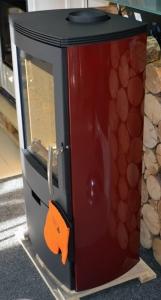 Thorma Falun II Aqua s výměníkem - černý, vínovočervené boky