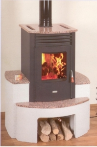 Prity SB W10 s výměníkem - s granitem balmoral red