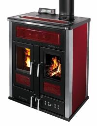 Klover BI-FIRE mid - bordo - plech + kachle žíhané