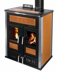 Klover BI-FIRE mid - oranžově žlutá -plech + kachle
