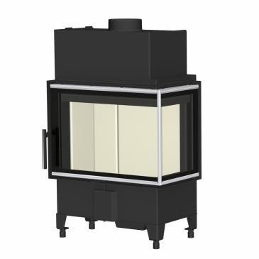Romotop Heat L 2g S 60.44.33.23 - rohová s děleným sklem se speciální lištou - levá ( HL2SY 23)